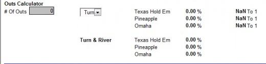 Texas Hold Em calculator