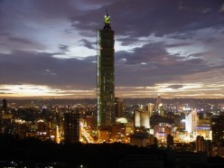 The second tallest building in the world the Taipei 101 of Taiwan.