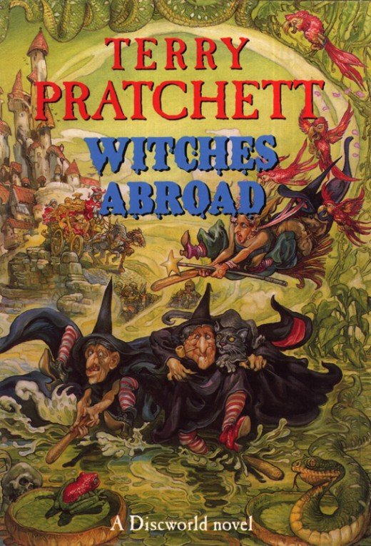 Witches abroad takes the three witches across the Disc in an attempt to save a Princess from Marrying the Duc.