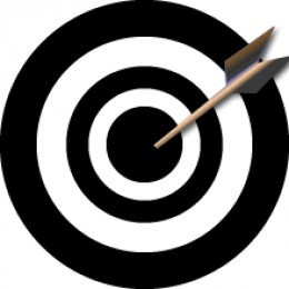Take aim on your targeted goals.