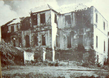 A picture depicting the terrible condition the Great House was found in by the British.