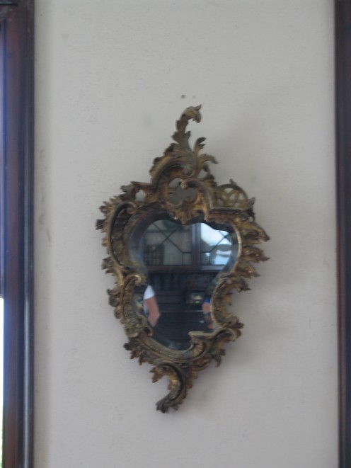 The infamous mirror. I did not see a ghost, unfortunately...fortunately?