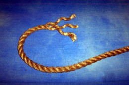 Untwist the strands on the end of the rope about 6 or 7 inches.