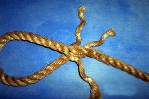 Twist up a loop and insert one of the strands under the loop.