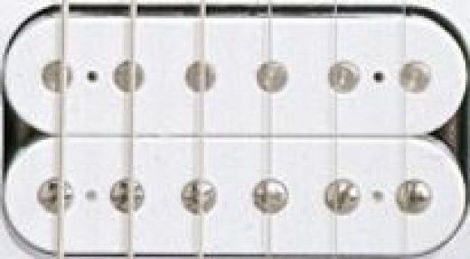 A hum canceling electric guitar pickup, called a Humbucker