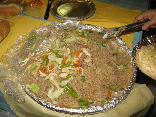 """Pancit"" or Filipino Noodles for feeding. There's never enough."