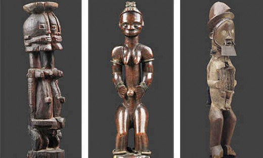 Collecting art.  African art photo image of african sculptures taken from http://www.african-arts.info/images/collecting%20african%20art%20Pace.jpg copyright 2010.