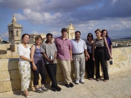 me third from right with other tourists, beside the purple woman and the black top woman