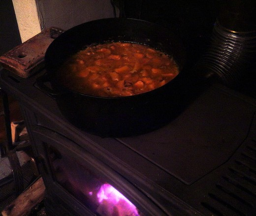Simmer gently for ten minutes.