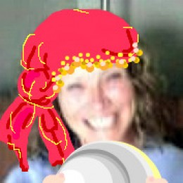 The oracle of hubnugget-land...seen here shaking the new hubnugget wannabes out of her crystal ball