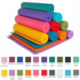 Yoga exercise mats are available is different colors