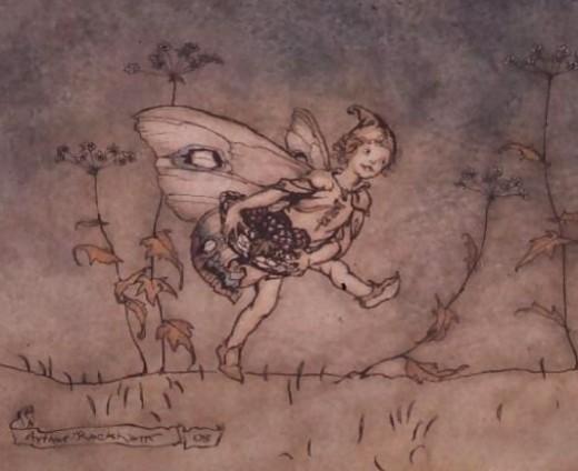 An elf from A Midsummer's Nights Dream