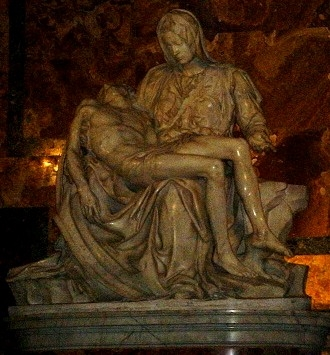 Michelangelo's Pieta, St Peters, Vatican Photo: Clark