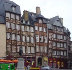 Medieval houses at Champ-Jacquet, Rennes