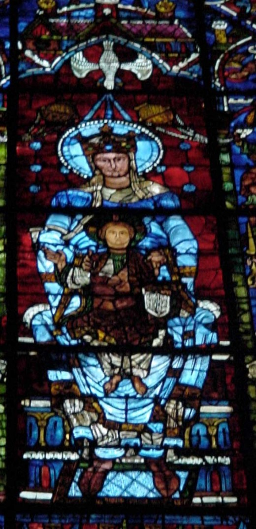 Mary window at Chartres Cathedral
