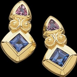 Blue Sapphires and Amethyst set in yellow gold - cartier.com