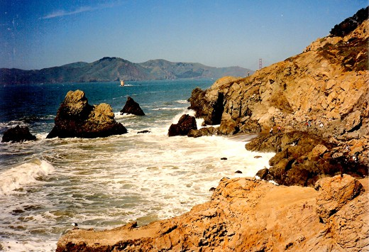 San Francisco Bay close to Cliff House