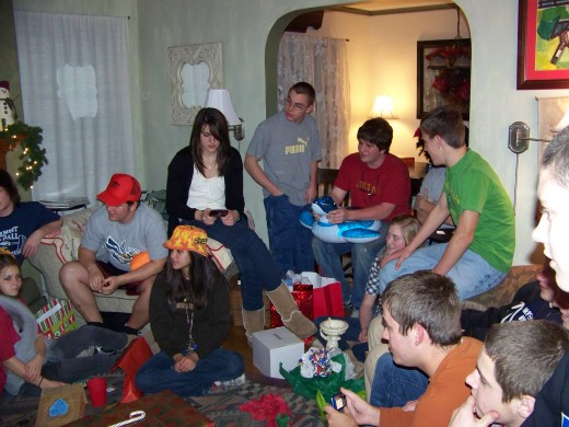 The White Elephant Gift Exchange was a big hit.  It got them all in one room, and sitting, for almost an hour.