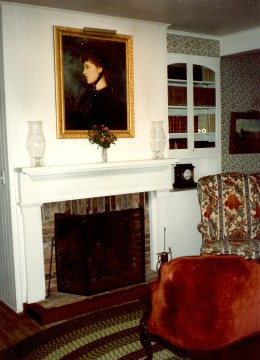 Downstair's parlor in the Langtry House