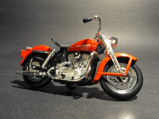 2007, Model of a 1952 Harley, 1/18th scale shot in studio.