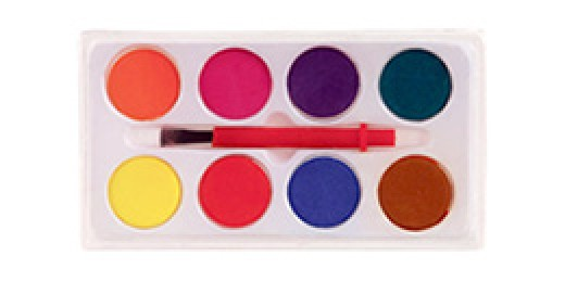 Water color paint set.