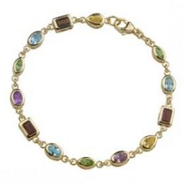 Multi gem bracelet x