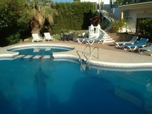 Spanish villa pool