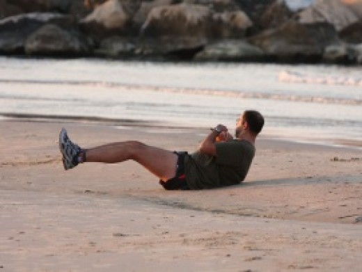 man exercising photo by photos8