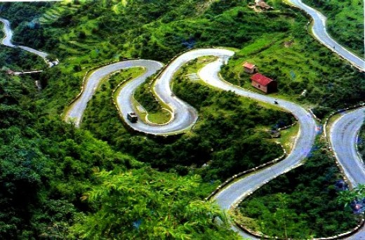 Roadview of mussorie