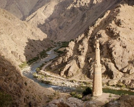 The minaret of Jam in Afghanistan