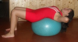 An abdominal crunch on the fitness ball has been scientifically proven to work your abs better than a regular crunch.