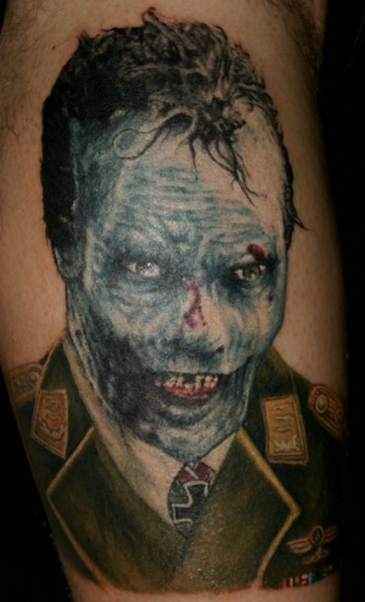 Yeah tis a damn Nazi Zombie Tattoo and I have no idea what kind of nutter