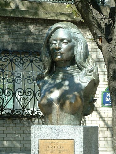Dalida was a was an Italian Egyptian singer and actress, naturalized French. Dalida was born and raised in Egypt, but she lived most of her adult life in France. She received 55 gold records and was the first singer to receive a diamond disc. Dalida