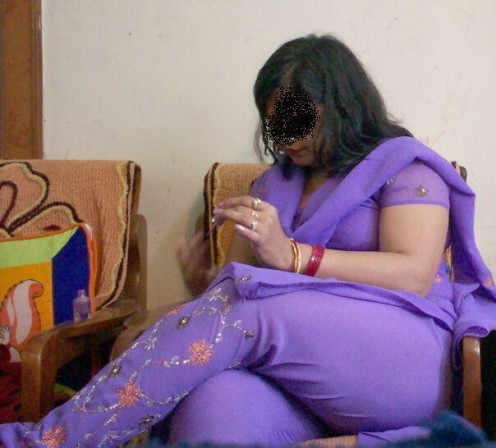Desi Women in Tight Shalwar and Crossed Legs