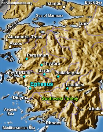EPHESUS MAP