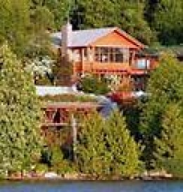 Location: earth-sheltered house in the side of a hill overlooking Lake Washington in Medina, Washington