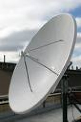 2.4M dish - must be set in concrete