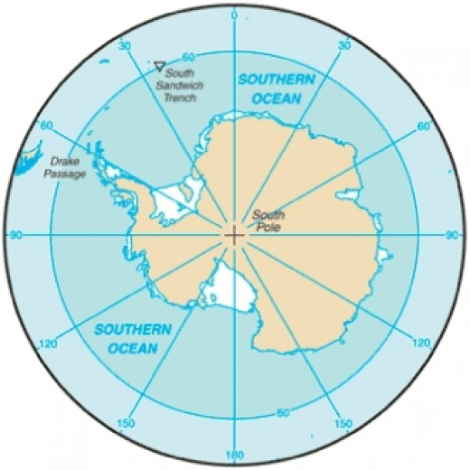 Southern Ocean around Antarctica
