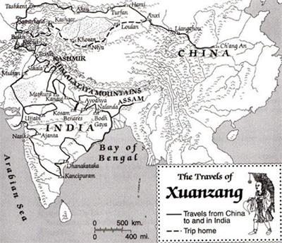 Tripitaks's Journey. Image credit: cornell.edu