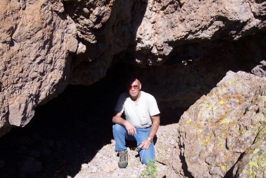 Getting ready to enter one of thousands of caves within the Superstitions.