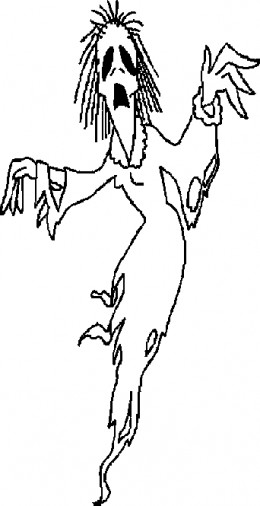 Early Childhood Education Colouring Pictures - Halloween Zombie Coloring Pages to print-and-colour.