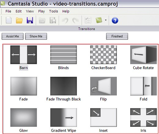 Video Transitions in Camtasia Studio