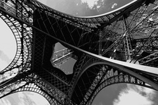 Famous Eiffel Tower Latticework