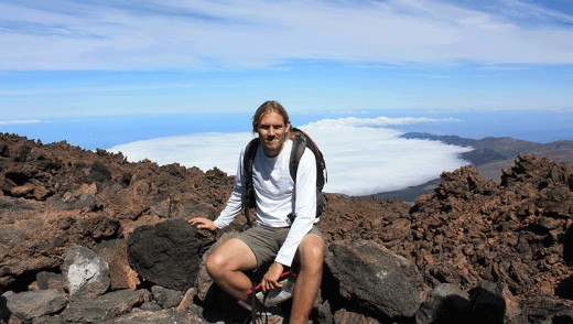 Looking fresh-faced on the first of 3 ascents of Mount Teide in 3 weeks.