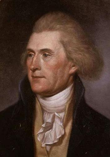 Thomas Jefferson, author of the Declaration of Independence, third President of the United States and staunch defender of individual liberty. (public domain photo courtesy of WikiPedia.org   http://en.wikipedia.org/wiki/File:T_Jefferson_by_Charles_Wi