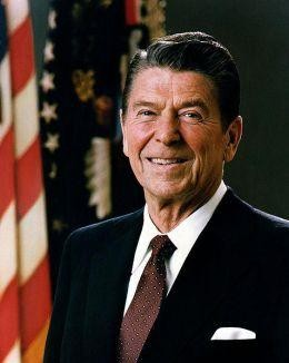 Ronald Reagan, 40th President of the United States whose tax cuts lead to one of the longest economic booms in history