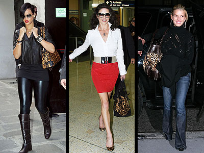 Celebs such as Jessica Simpson sporting leopard purses!