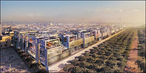 Plans for Masdar City, Abu Dhabi promises that carbon-neutral cities will crop up in the desert.