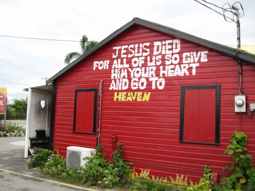 Building in town of Hell, Grand Cayman Island