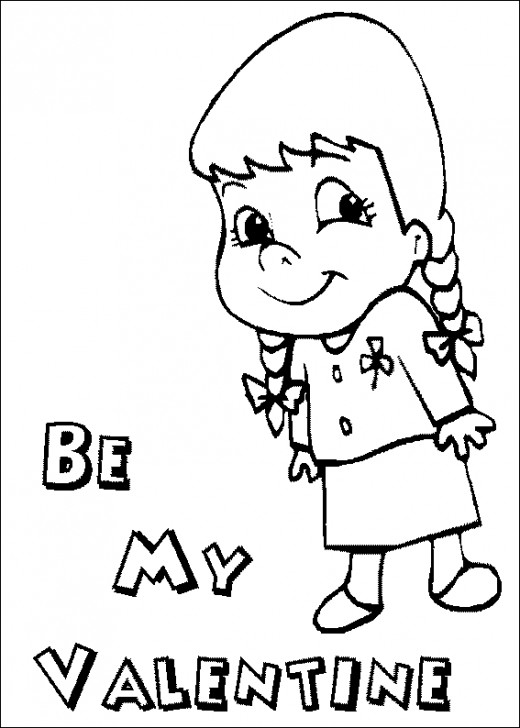 free v day coloring page